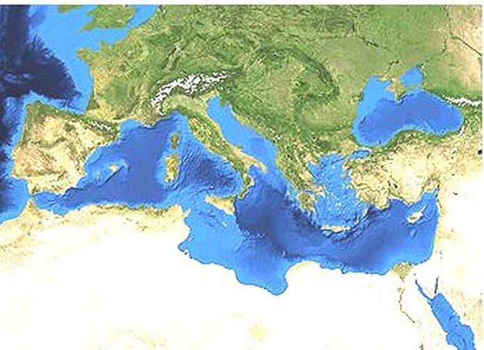 Cartina Mediterraneo Meridionale.Oceani E Mari Del Mondo Oceans And Seas Of The
